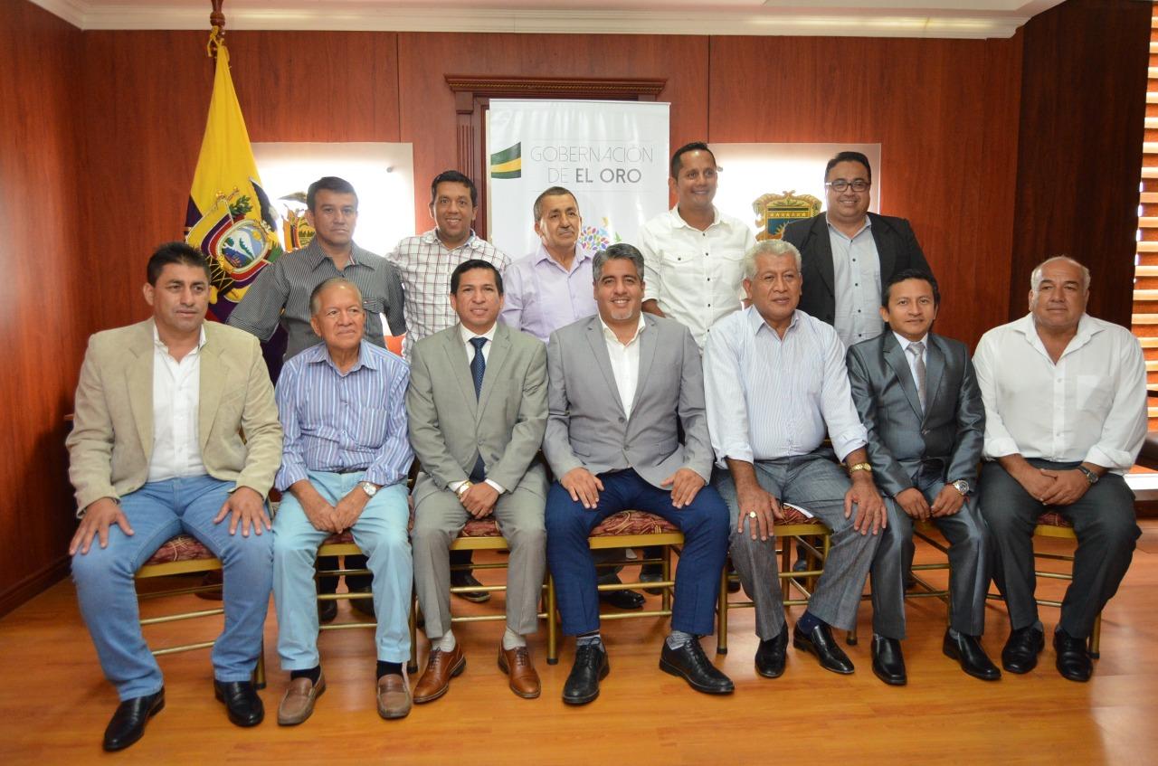 El gobernador de El Oro fortalece el trabajo con los alcaldes de la provincia de El Oro