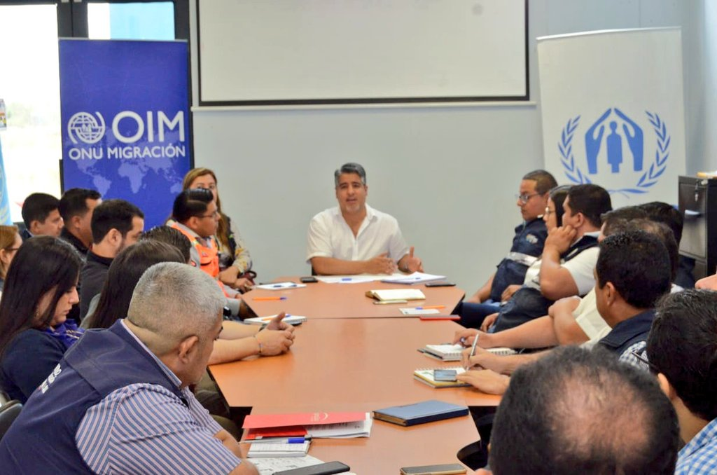 La Mesa Provincial de Movilidad Humana analiza servicios prestados en el CEBAF Huaquillas