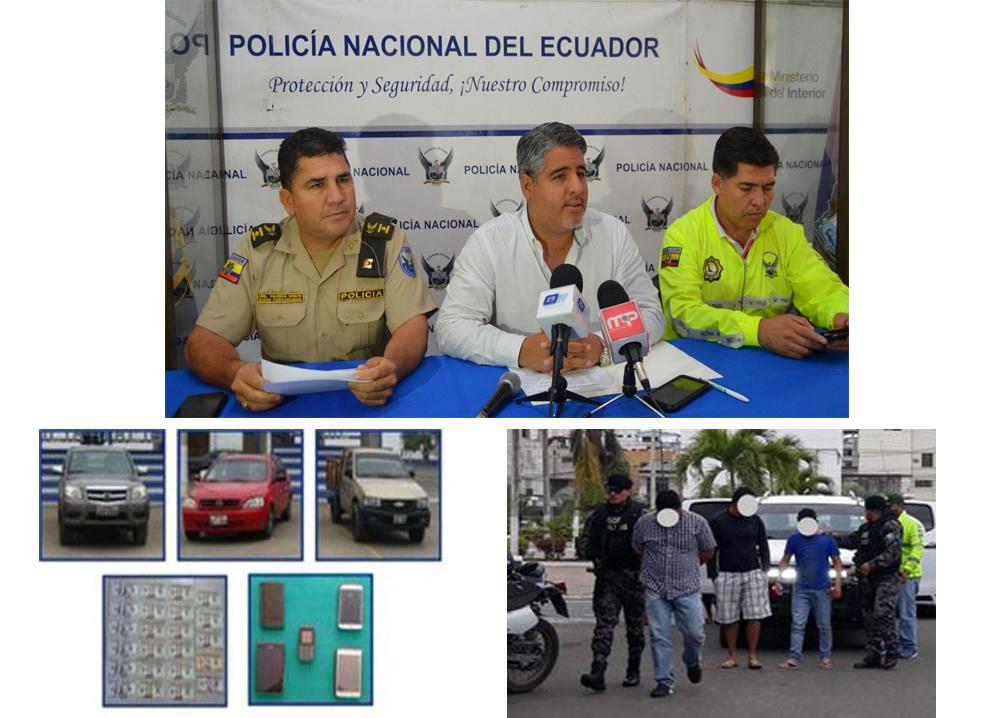 Banda de robacarros fue desarticulada en Machala