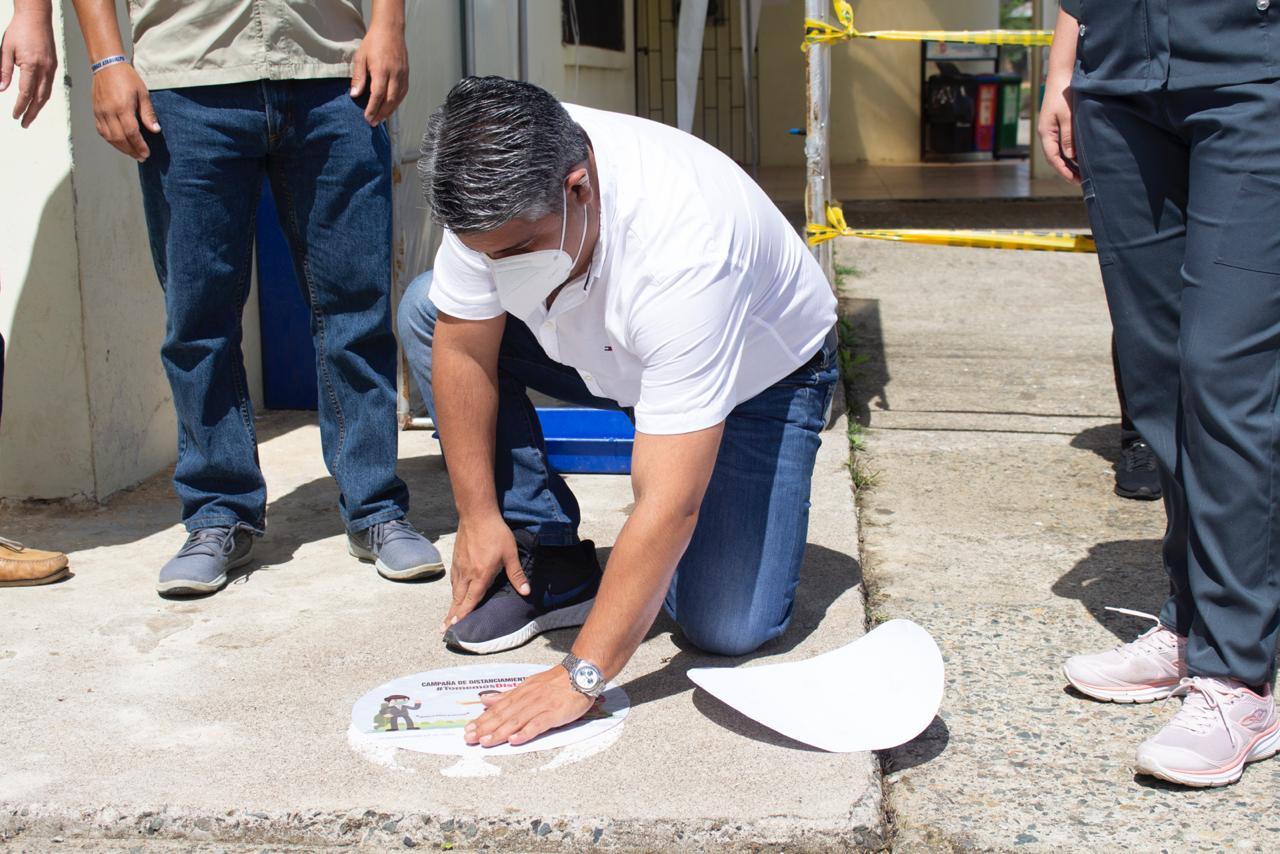 Atahualpenses  se suman a la campaña «Tomemos Distancia», iniciativa de la Gobernación de El Oro