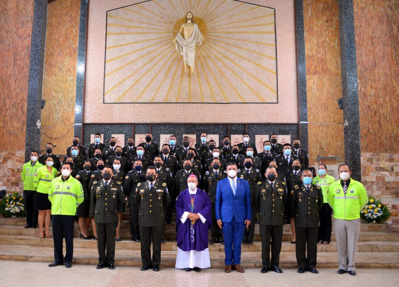 Con misa de acción de gracias, Policía El Oro inicia festejos por 83 años de profesionalización