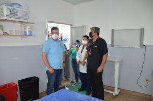 Gobernador Gámez constató atención en Hospital Teófilo Dávila