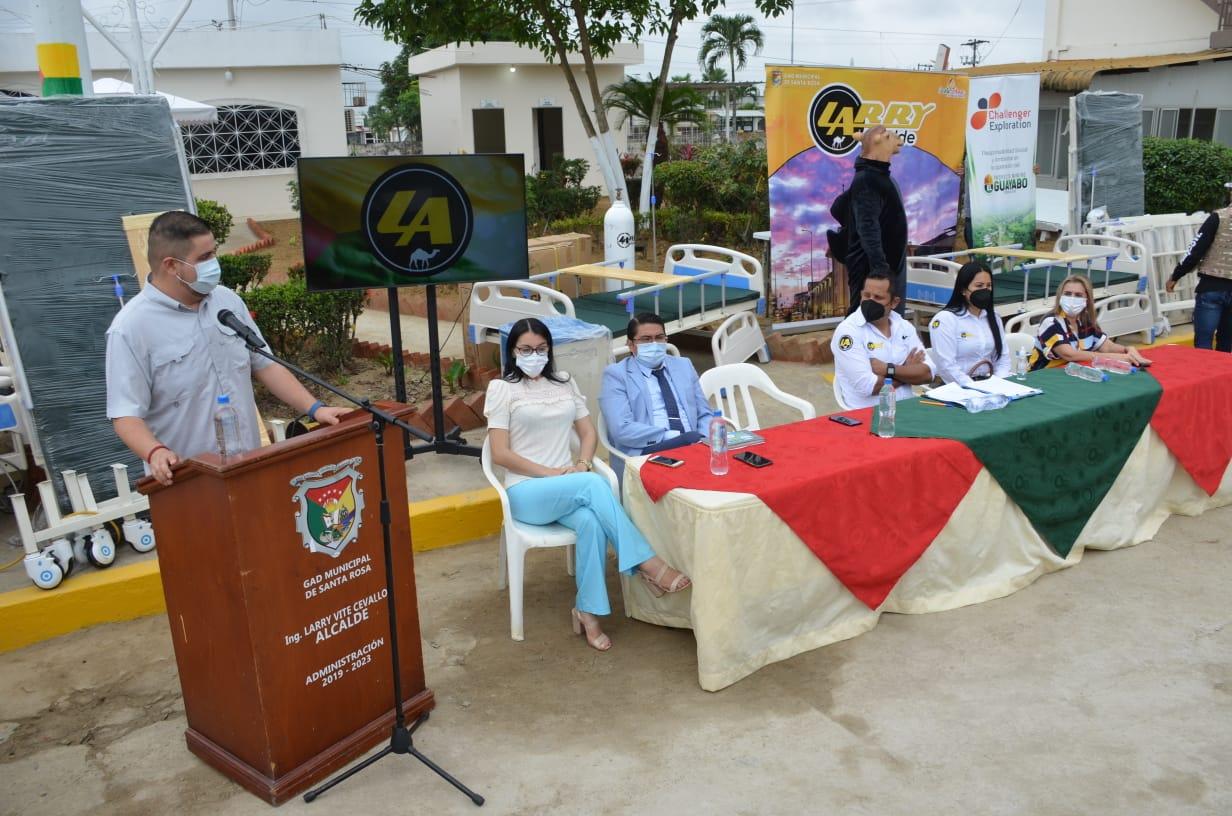 Gobernador Gámez participó de entrega de repotenciación de área Covid del hospital de Santa Rosa