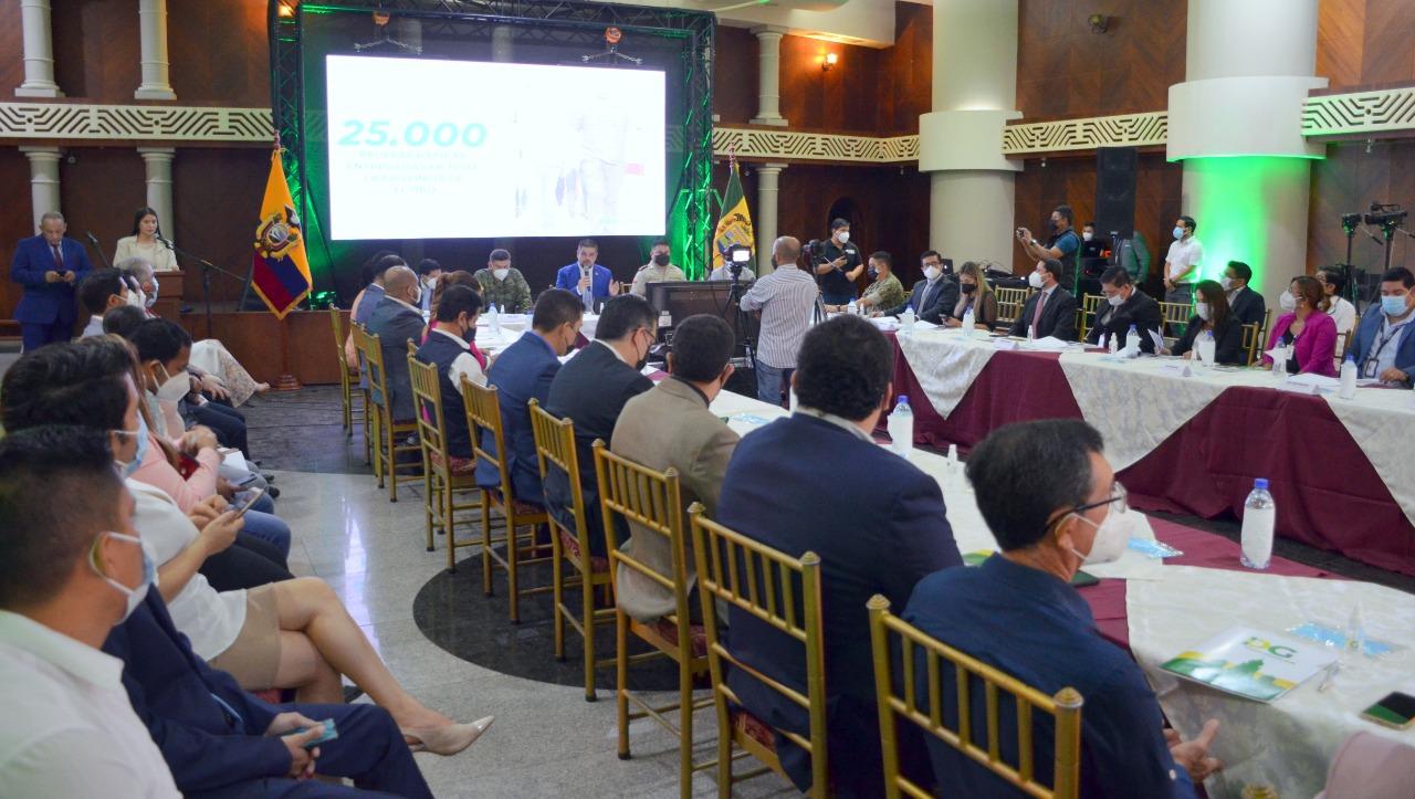 Gobernador Gámez informó sobre su gestión al frente de la Gobernación de El Oro